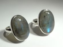 Labradorite Oval Cabochon Ring image