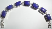 Lapis Rectangle Cabochon Lobster Claw clasp Bracelet