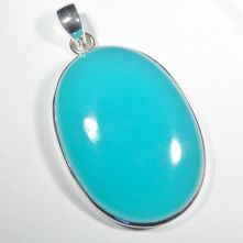 Blue Onyx Oval Cabochon Individual Pendant