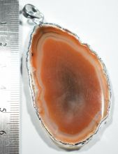Agate Slice Large Natural Pendant 8678