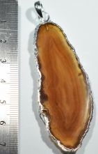 Agate Slice Large Natural Pendant 8681