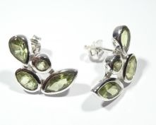 ER33-PER-Peridot Multi Stud Earrings