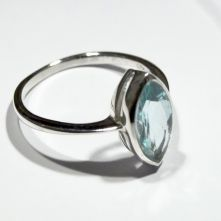 R214-RMS-Rainbow Moonstone Single Marquise Facet Pattern Ring image